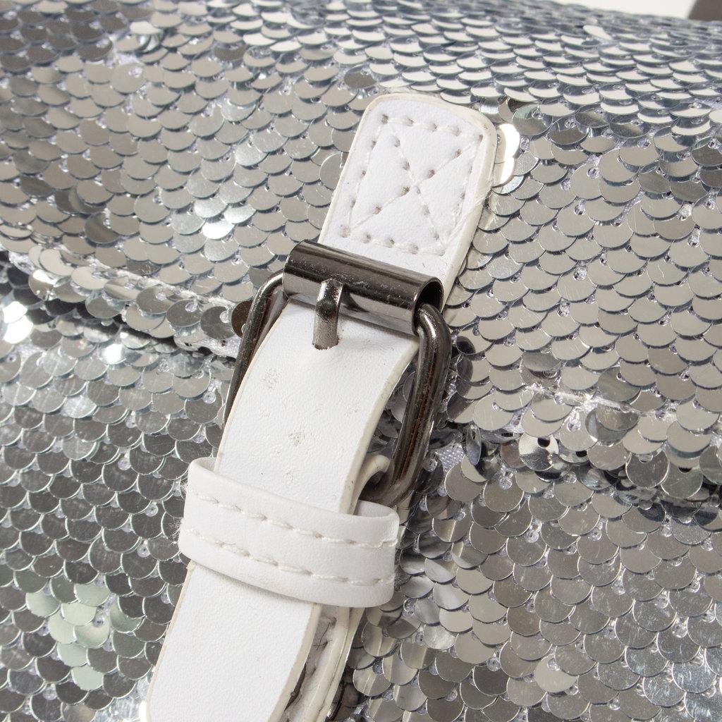 New Rebels Sequin Buckle Waist Bag Soft Silver   Bauchtasche