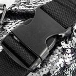 New Rebels Sequin Buckle Waist Bag Soft Silver