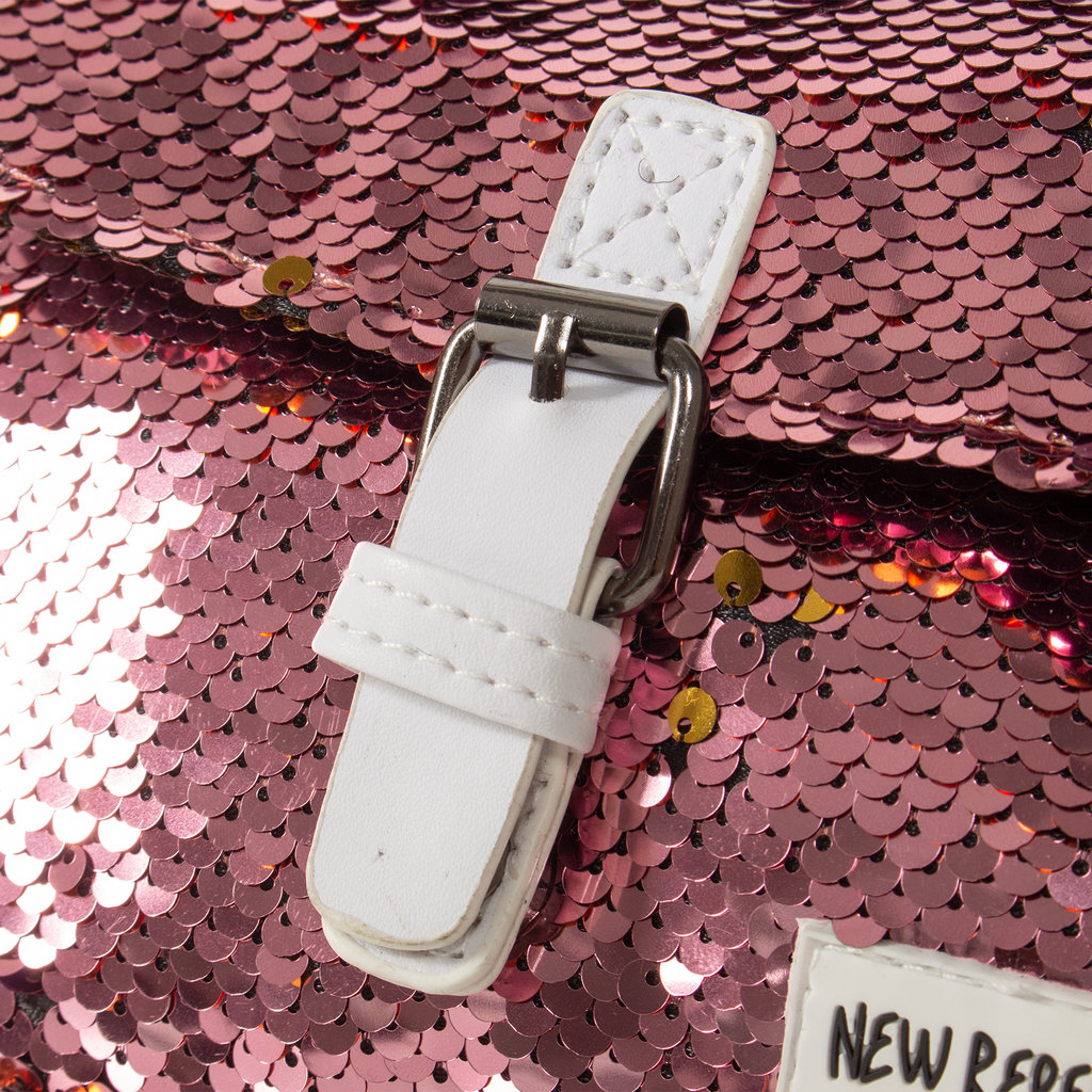 New Rebels Sequin Buckle Waist Bag Soft Pink   Bauchtasche