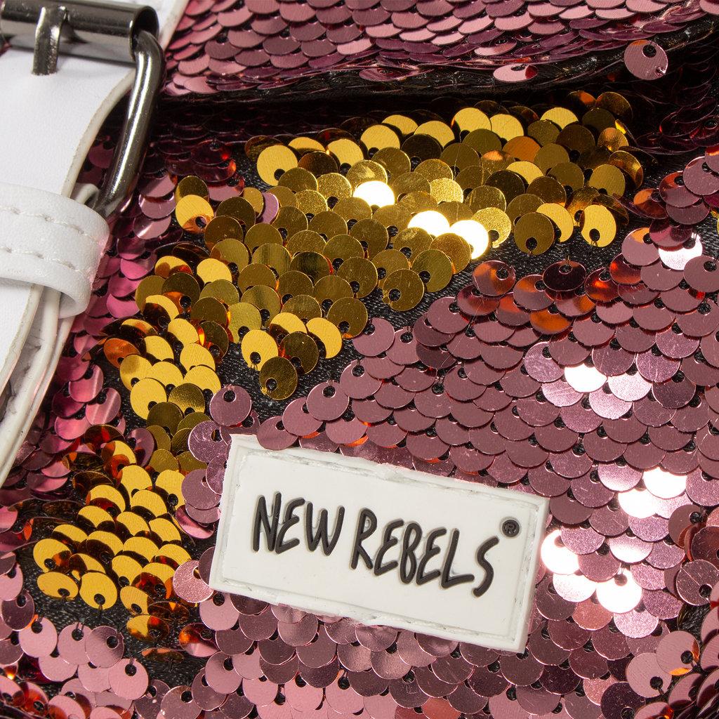 New Rebels Sequin Buckle Waist Bag Soft Pink