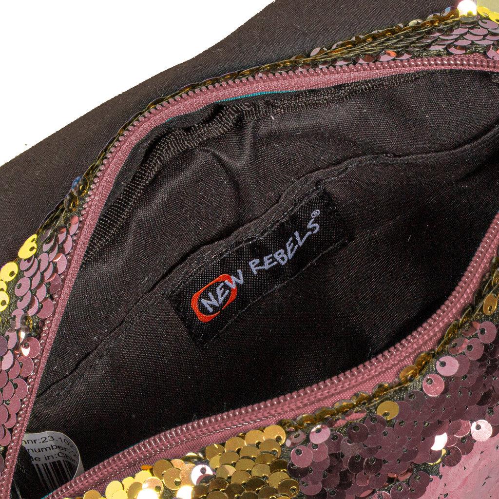 New Rebels Sequin Buckle Waist Bag Soft Pink | Heuptasje