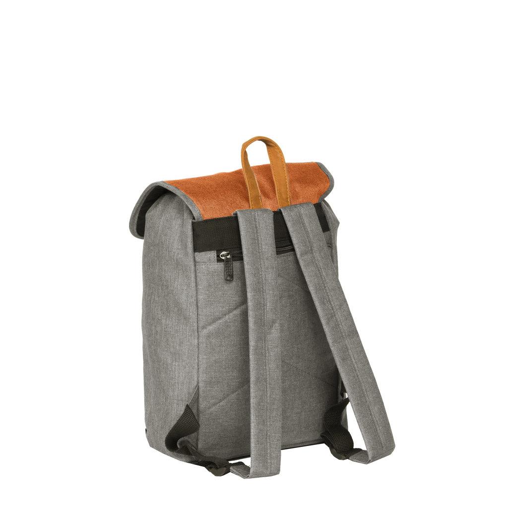 Creek Small Flap Backpack Anthracite/Orange IV   Rucksack