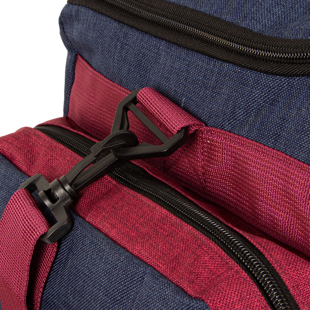 Wodz Sports Bag Navy/Burgundy Small IV | Weekendtas | Sporttas