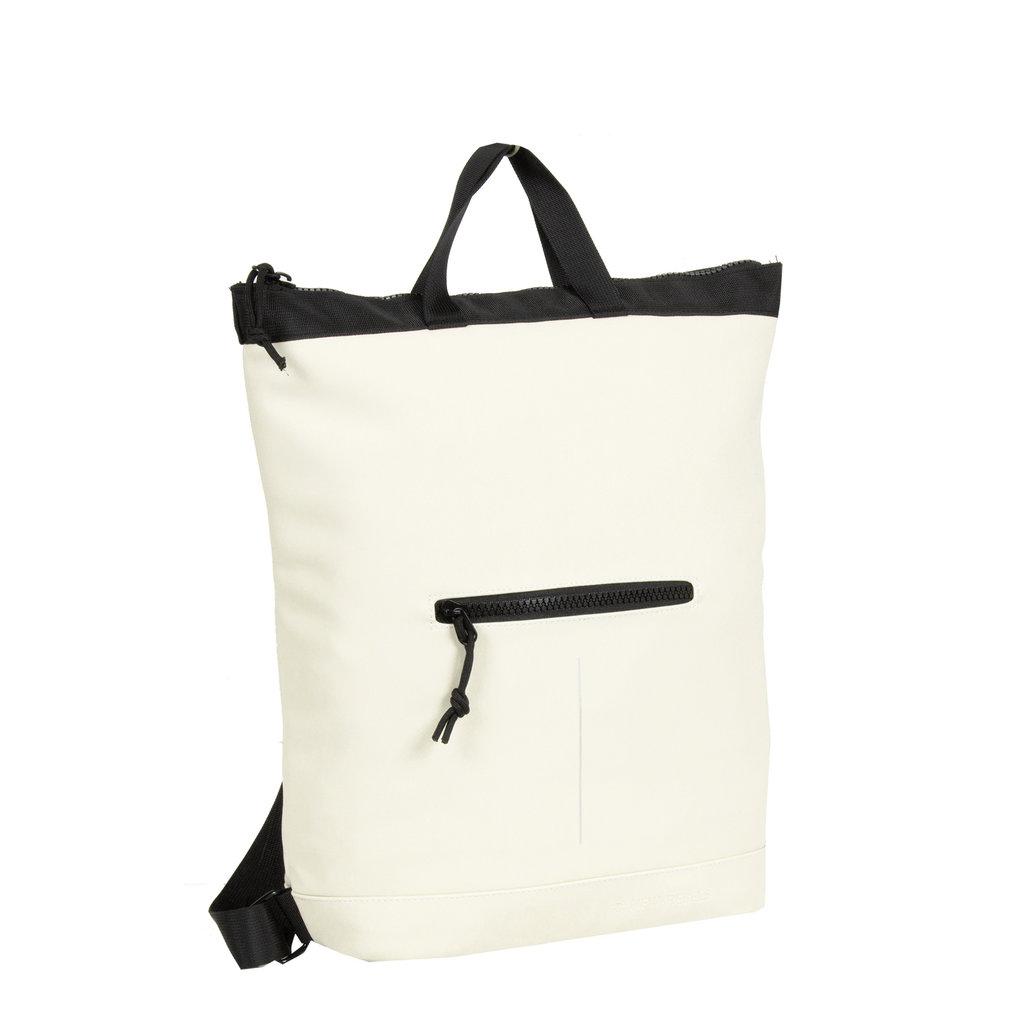 New-Rebels ® Mart Shopper - Laptoptas vak - Rugtas  -  Wit