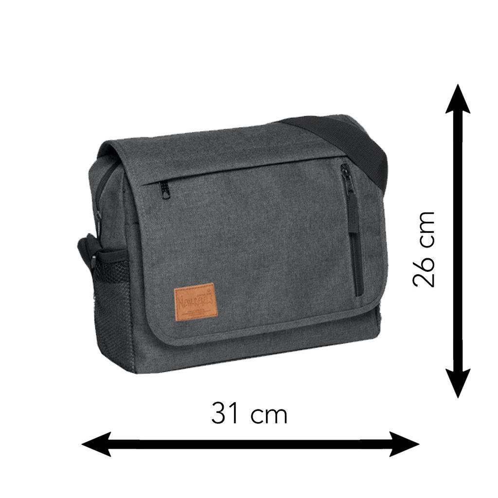 New Rebels®  Heaven25 - Medium Schaulderbag  A5 - Crossbodybag  Shadow Blauw