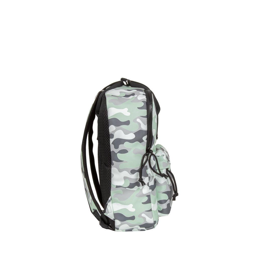 New-Rebels®  Mart PU Backpack Mint Camouflage