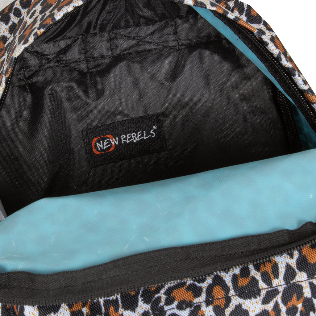 Backpack basic small leopard