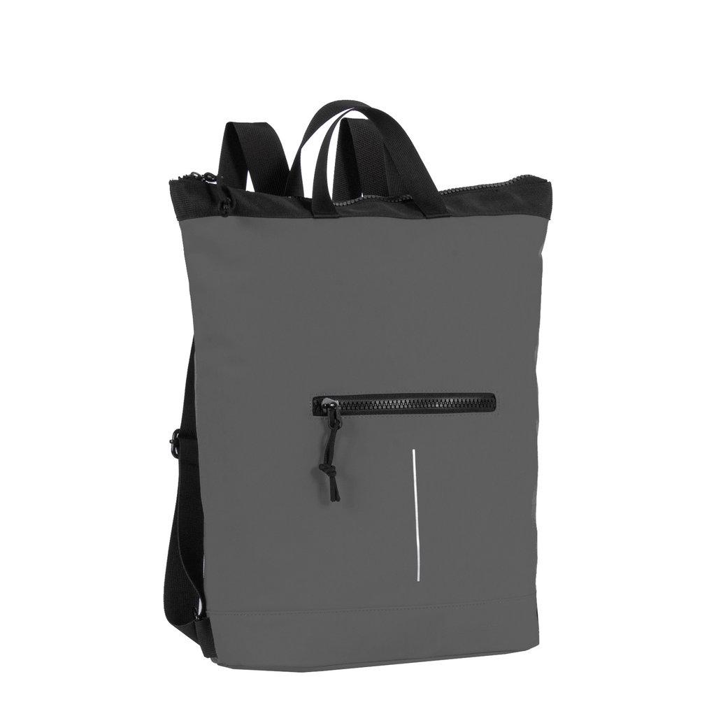 New Rebels® Mart - Top Zip - Water-resistant -  Backpack - Laptop bag 13,3 Inch. - Shopper - 30x15x44cm - Grey
