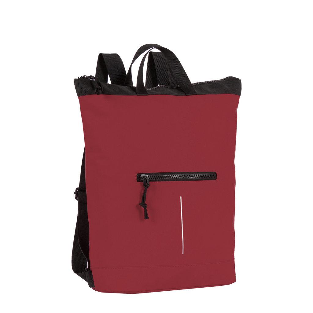 New Rebels® Mart - Top Zip - Water-resistant -  Backpack - Laptop bag 13,3 Inch. - Shopper - 30x15x44cm - Burgundy