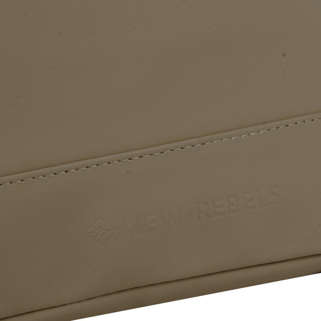 New Rebels® Mart - Top Zip - Water-resistant -  Backpack - Laptop bag 13,3 Inch. - Shopper - 30x15x44cm - Olive
