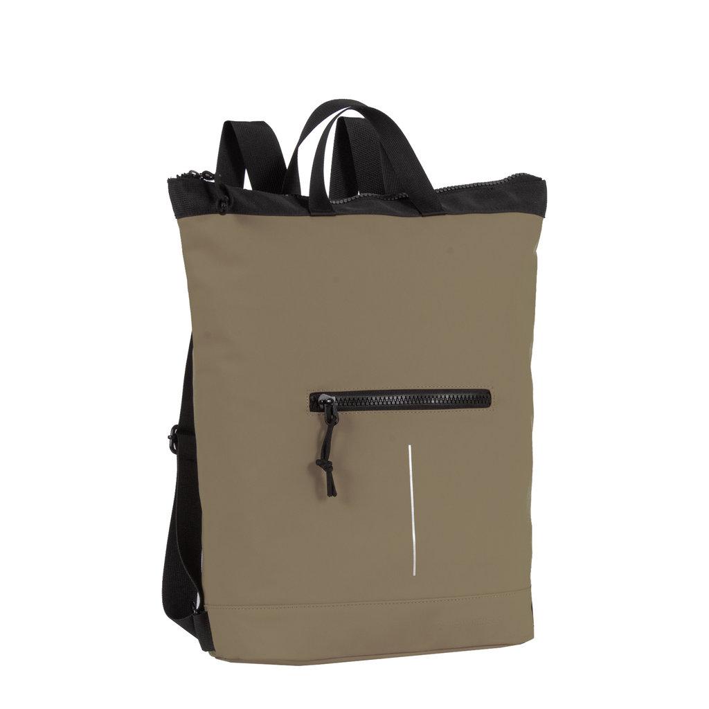 New Rebels® Mart - Waterafstotend -  Rugtas - Laptoptas 13,3 Inch. - Shopper -  Olijf Groen