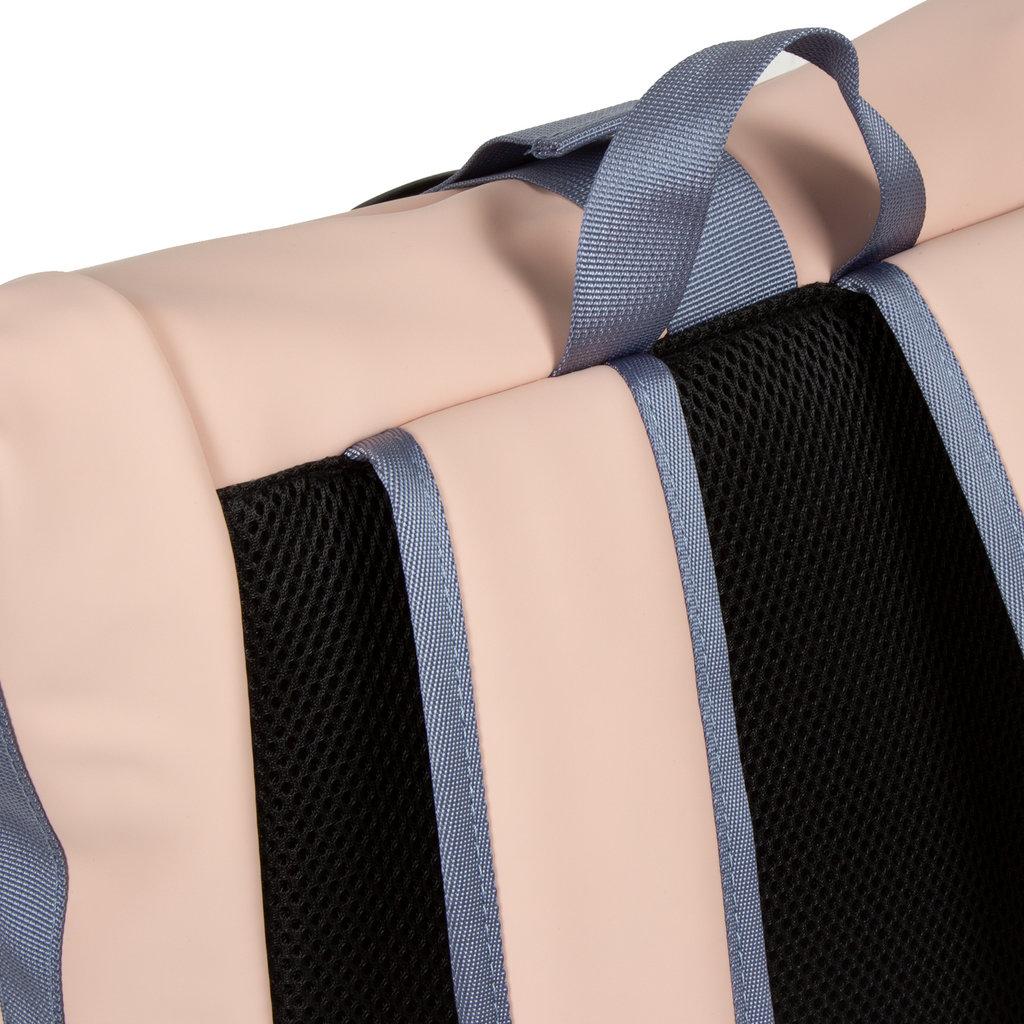 Tim soft pink/soft blue rol backpack 16L 30x12x43cm
