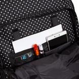 New Rebels® - Katschberg - Schooltas - Rugzak -  Laptop vak - Polyester - Zwart/ Wit