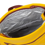 Tim Roll-Top Backpack Small Yellow/Burgundy