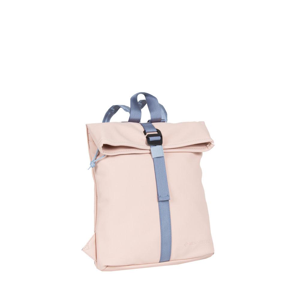 Tim soft pink/soft blue rol backpack mini 27x8x33cm