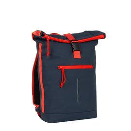 Tim Roll-Top Backpack Blue/Red - Rugtas