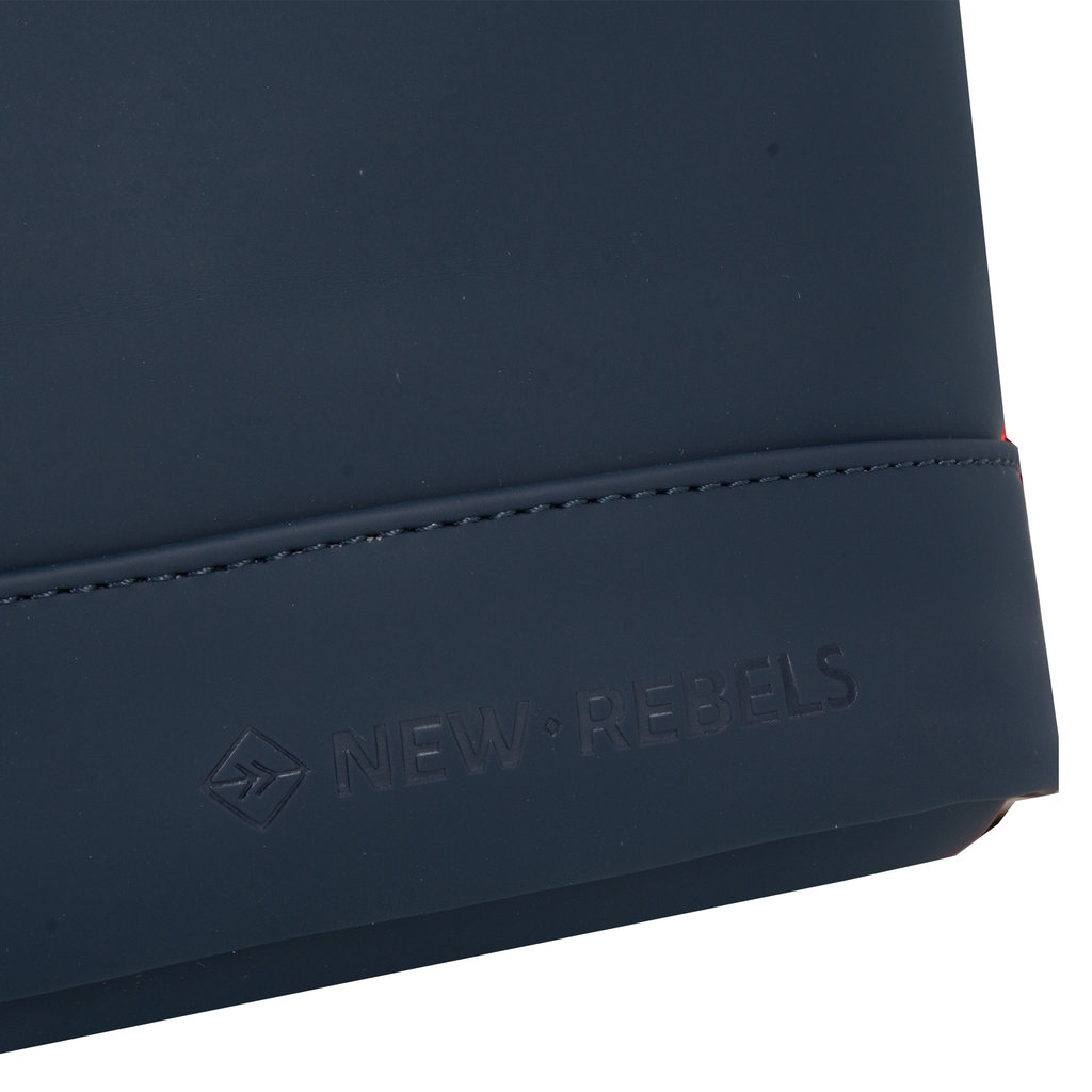 New Rebels® - Tim - Rugzak - Rugtas - Waterafstotend - Polyurethaan - Blauw Rood