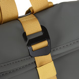 Tim Roll-Top Backpack Small Anthracite/Yellow