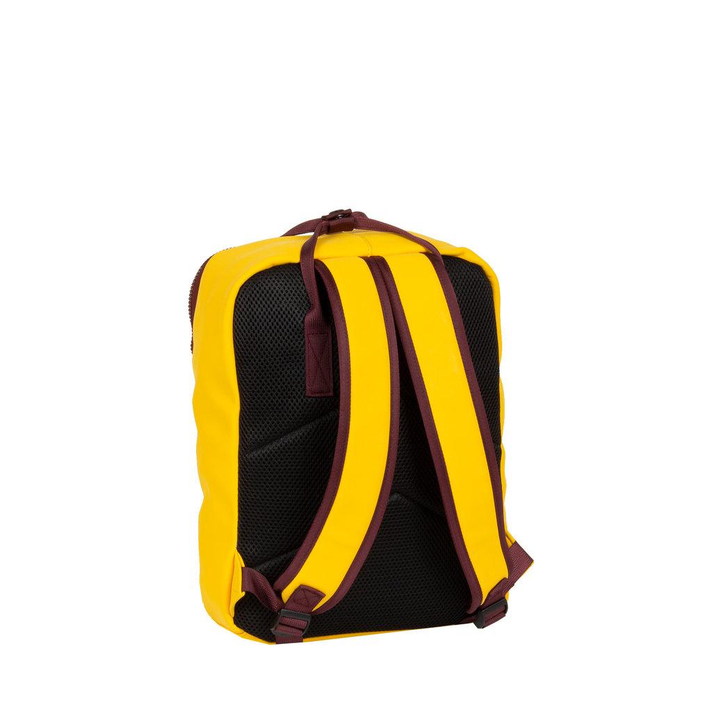 Tim yellow/ bordeaux handel backpack 18L 28x16x39cm