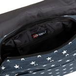 New Rebels®  Star25 - Medium Schoudertas  A5 - Crossbodytas met flap  -  A5 Blue