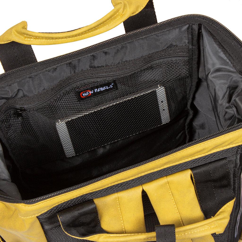 New Rebels Waxed olive shopper backpack   | Rucksack