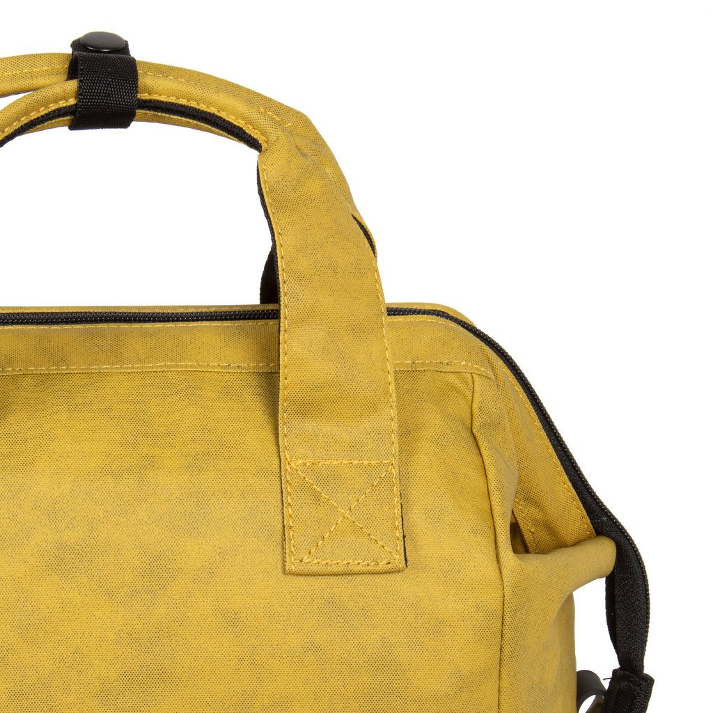 New Rebels Waxed olive shopper backpack