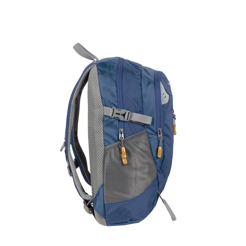 New Rebels®  - Kinley - Rugtas - Schooltas - Vrijetijdstas - 28 Liter - Nylon - Navy Blauw