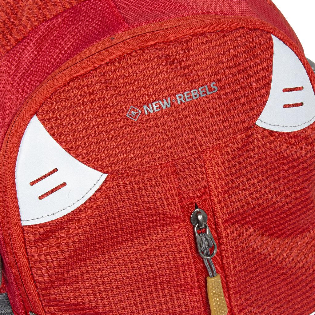 New Rebels®  - Kinley - Rugtas - Schooltas - Vrijetijdstas - 28 Liter - Nylon - Rood
