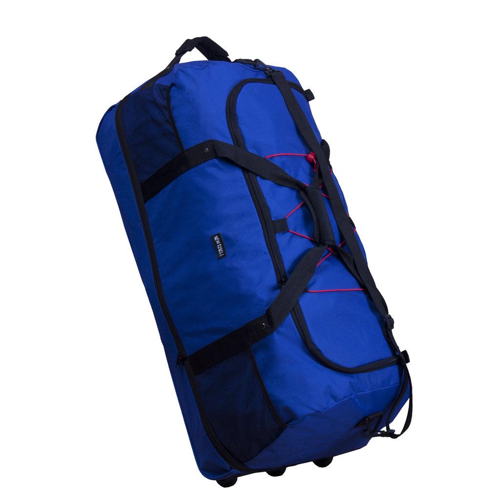 New- Rebels®  Roll-able Trolley Weekendtas - Reistas -Sporttas -  80 Cm  - Kobalt Blauw