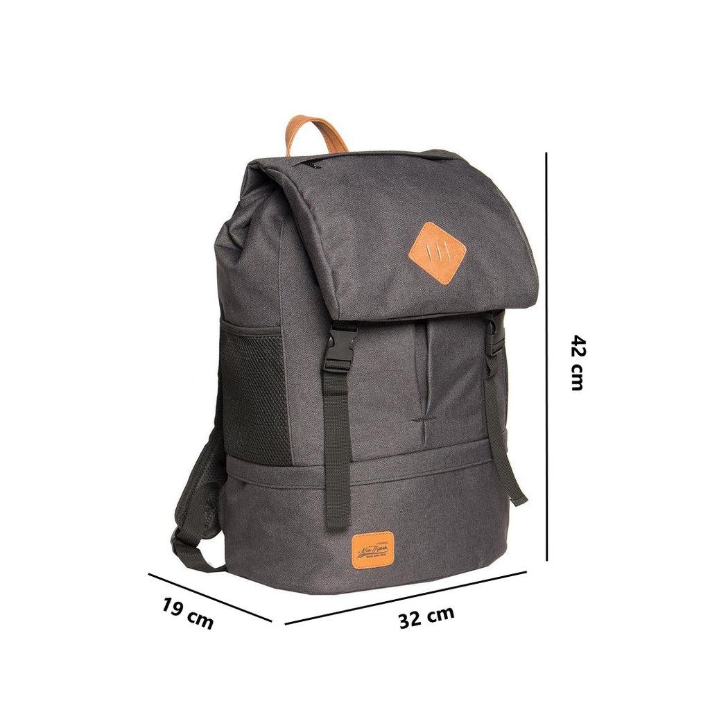 Heaven Big Flap Backpack Black XX | Rucksack