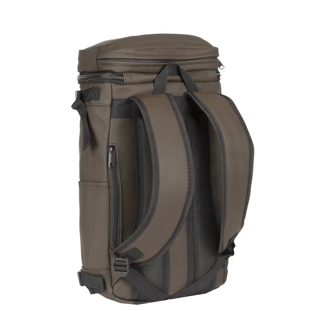 Truckcloth Laptop backpack taupe 26x17x50cm