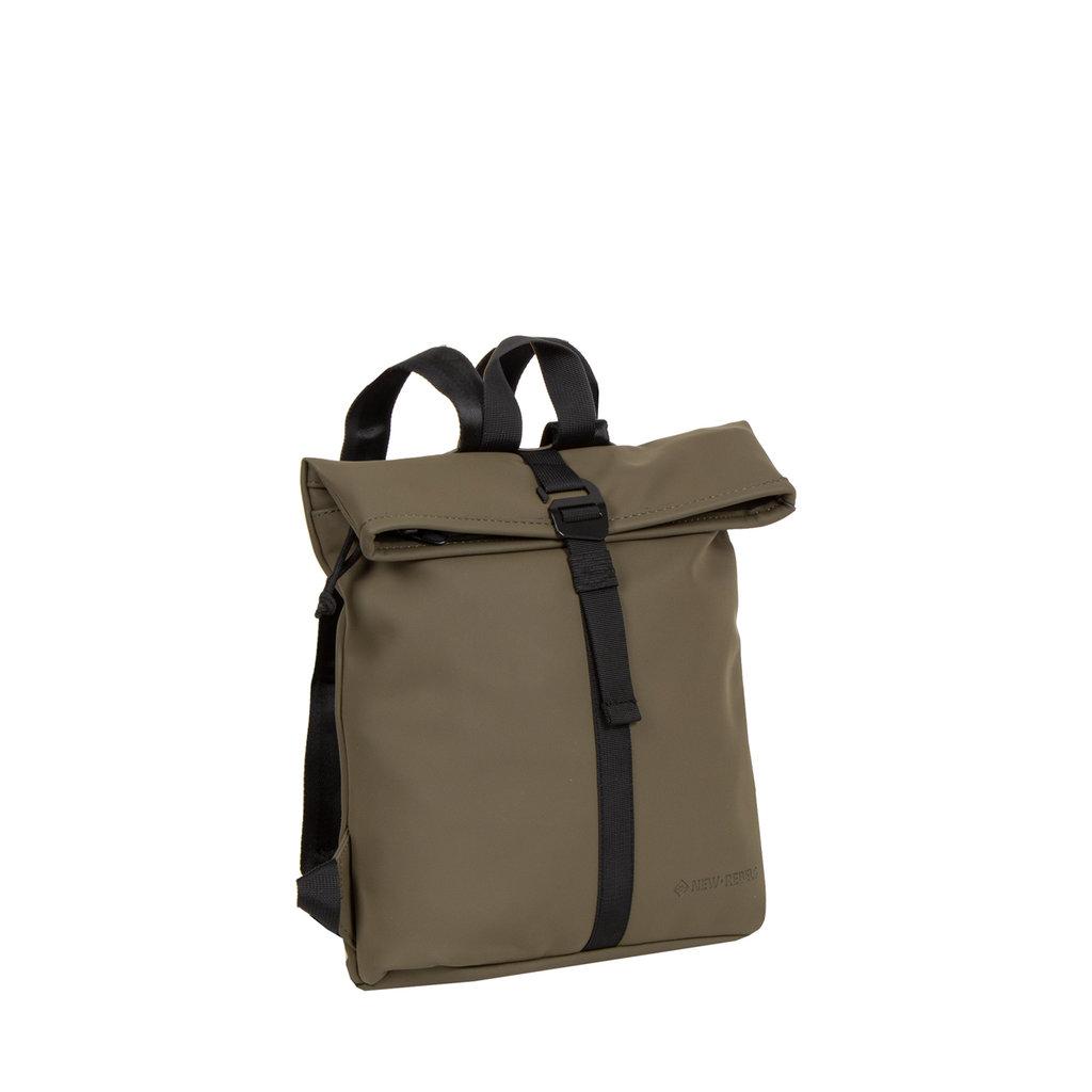 Mart Roll-Top Backpack Olijf Small II | Rugtas | Rugzak