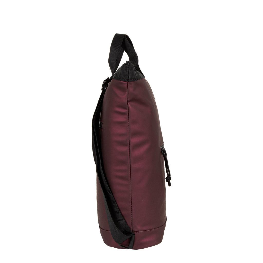 New Rebels® Mart - Waterafstotend -  Rugtas - Laptoptas 13,3 Inch. - Shopper -   Metallic Burgundy