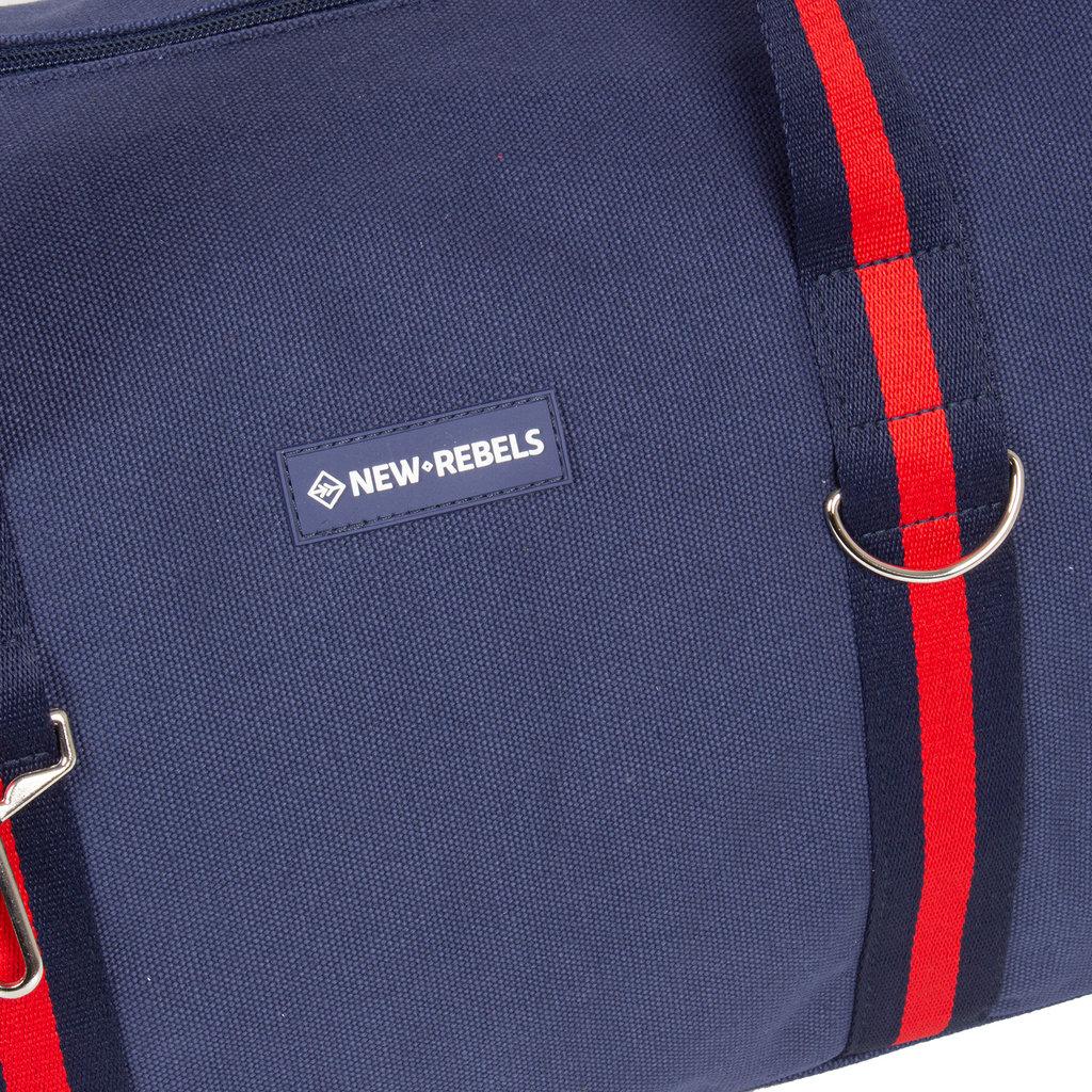 New-Rebels® - Stan - Canvas - Sporttas - Weekendtas - 50x25x25cm - Navy Blue