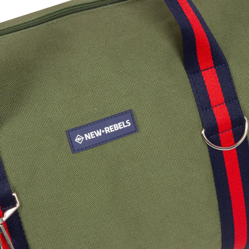 New-Rebels® - Stan - Canvas - Sporttas - Weekendtas - 50x25x25cm - Olive