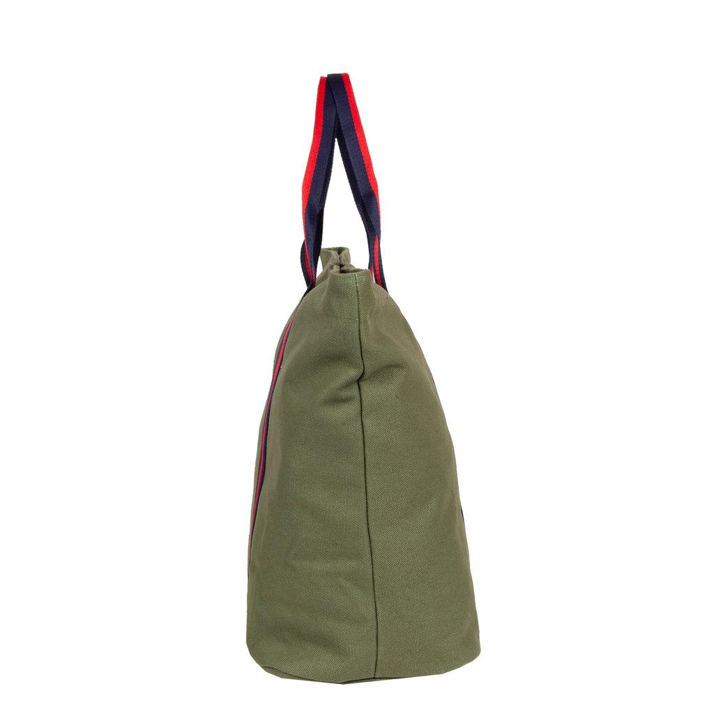 New-Rebels® - Stan - Canvas - Shopper - 37x20x40cm - Olive Green