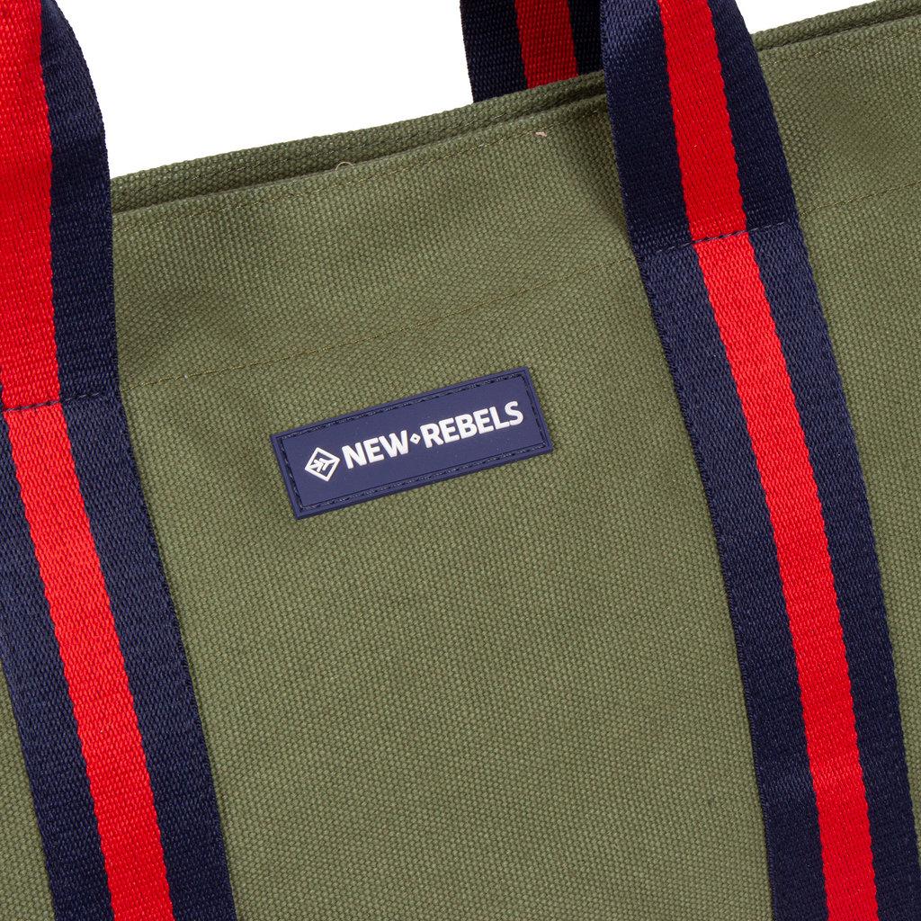 New Rebels - Stan - Canvas - Shopper - Olive Green