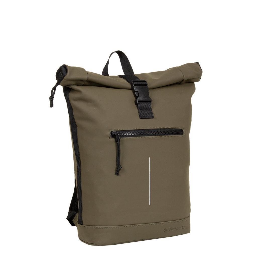 New-Rebels® Mart - Roll-Top - Backpack - Olive - Large II - 30x12x43cm - Backpack