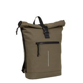 New-Rebels® Mart - Roll-Top - Backpack - Waterafstotend - Olive - Large II - Rugtas - Rugzak