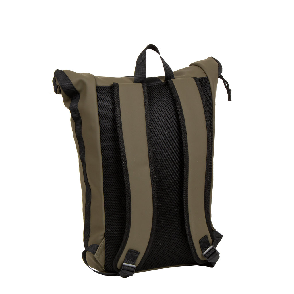 New-Rebels® Mart Waterafstotende Rolltop Laptop Rugzak - 15,6 inch -  Large II -  Olijf