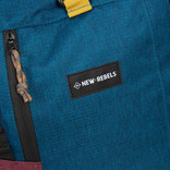 New Rebels® - Andes - Roll-Top 32 liter -31x19x53cm - New blue