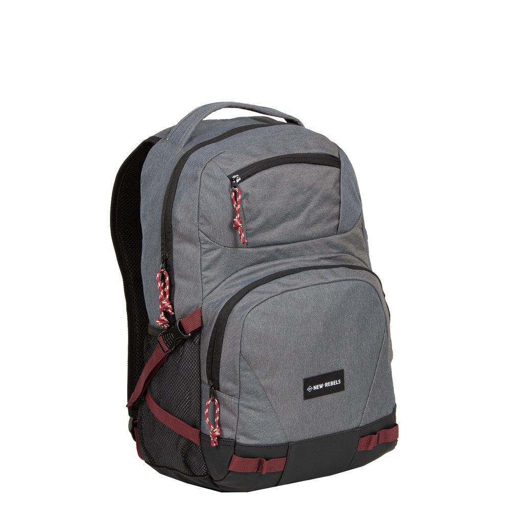New Rebels® Andes - front pocket - 25L - 31x16x50cm - Gray Black