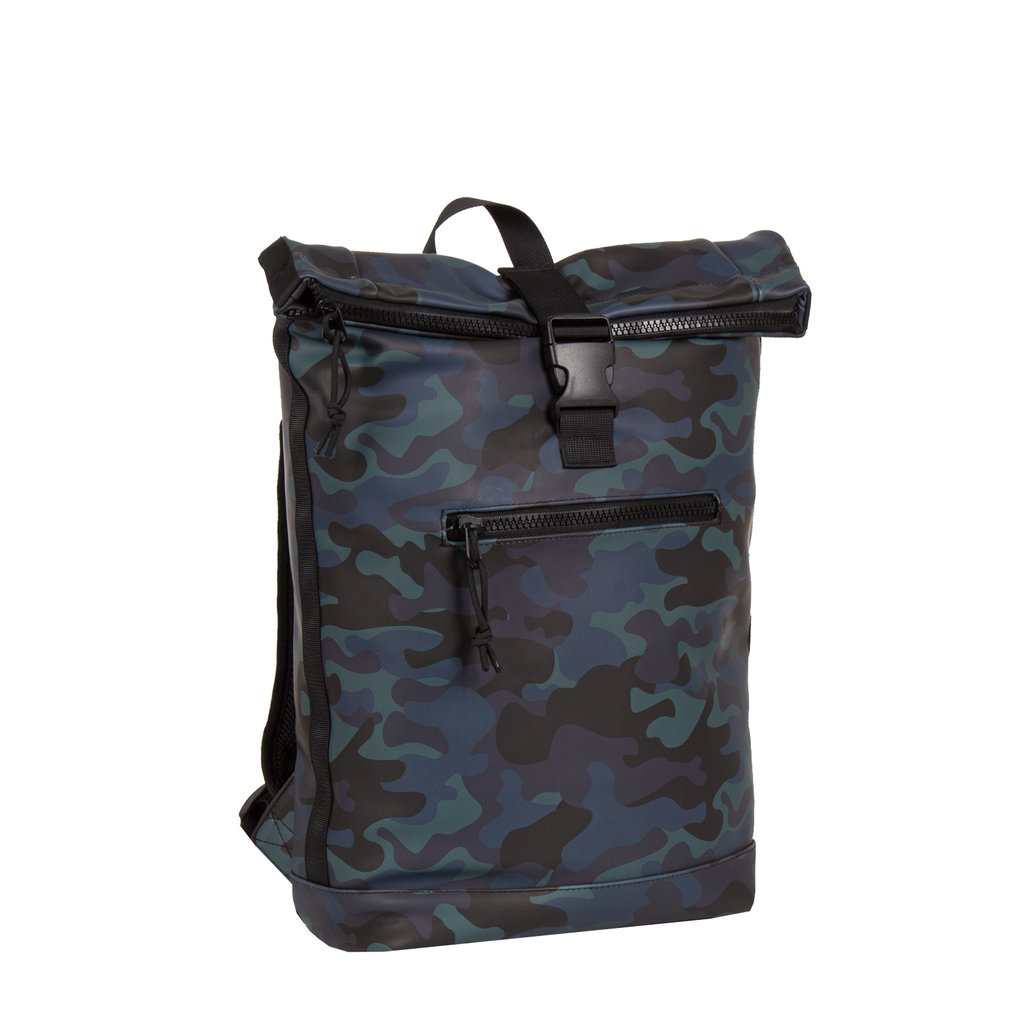 New-Rebels® Mart - Roll-Top - Backpack - Camouflage Army Dark - 30x12x43cm - Large II - Backpack