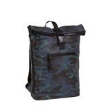 New-Rebels® Mart - Roll-Top - Backpack - Waterafstotend - Camouflage Army Dark - 30x12x43cm - Large II - Rugtas - Rugzak