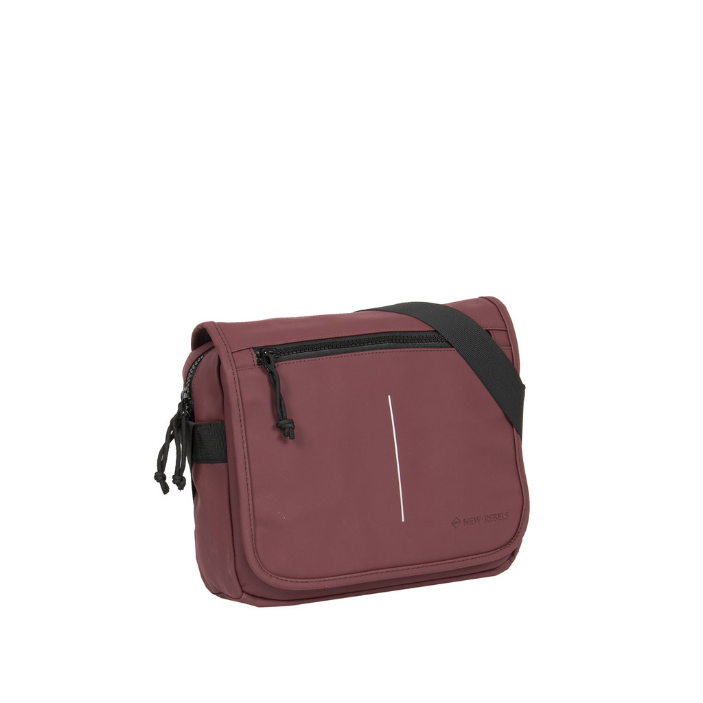 New-Rebels ® Mart - Flapover - Burgundy - A5 - 31x9,5x26cm - Schoudertas
