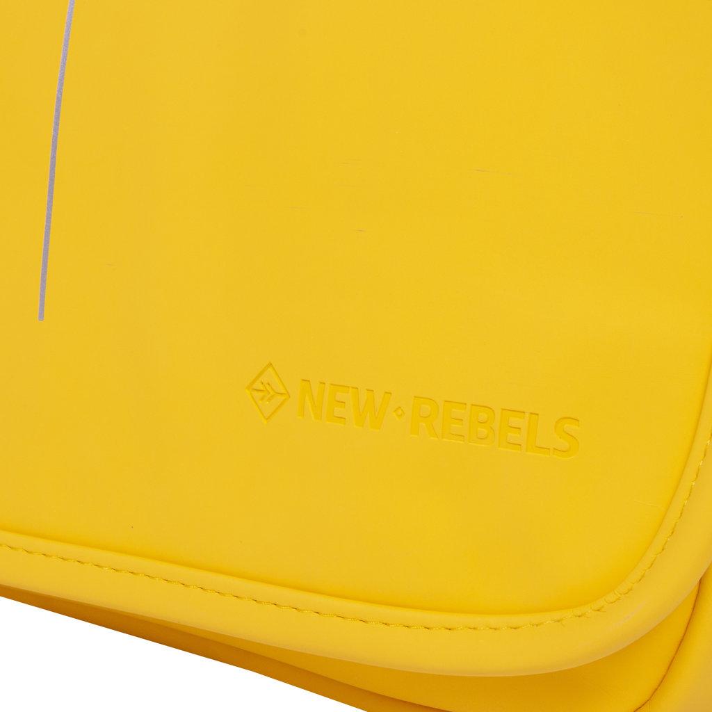 New-Rebels ® Mart - Flap over - Yellow - A5 - 31x9,5x26cm - Shoulder bag