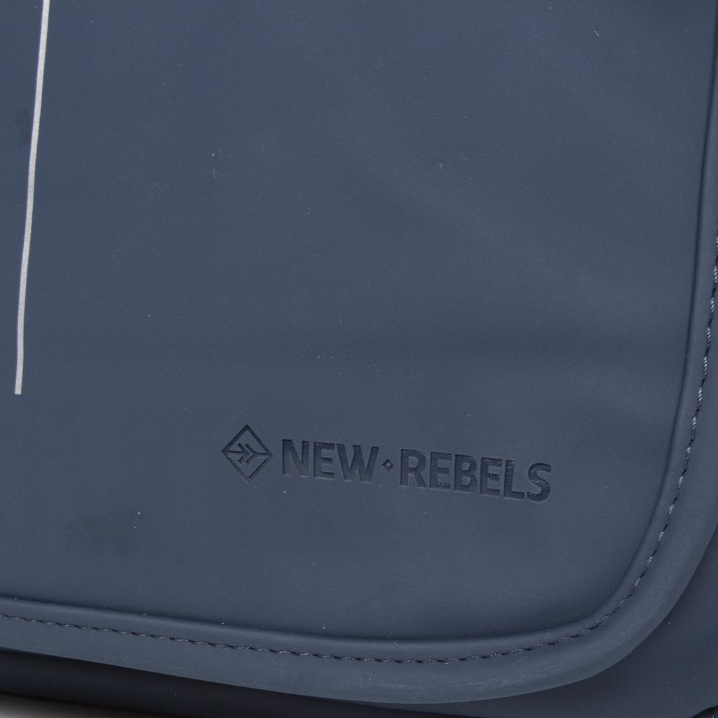 New-Rebels ® Mart - Flapover - Navy Blauw - A5 - 31x9,5x26cm - Schoudertas