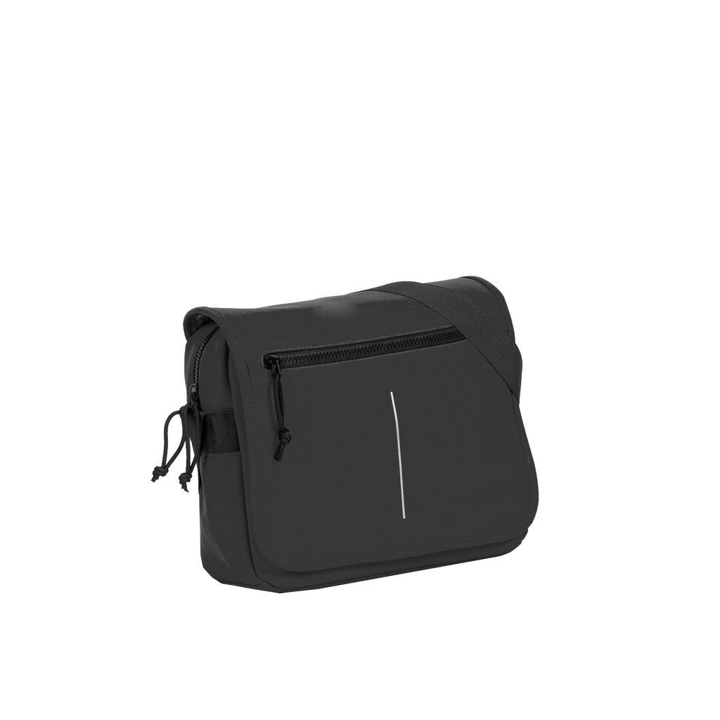 New-Rebels ® Mart - Flap over - Black - A5 - 31x9,5x26cm - Shoulder bag