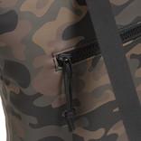 New Rebels® Mart - Top Zip - Water-resistant -  Backpack - Laptop bag 13,3 Inch. - Shopper - 30x15x44cm - Brown Camouflage