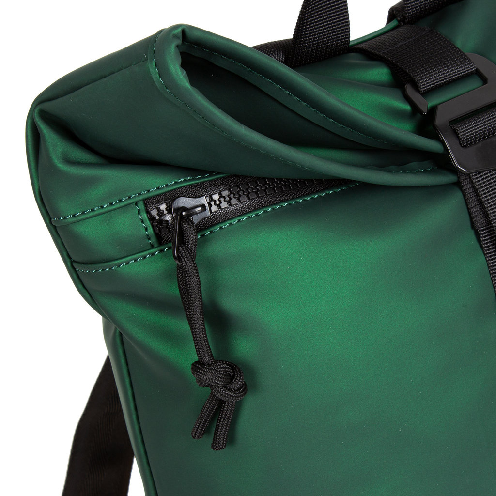 New-Rebels® Mart - Roll-Top - Backpack - Waterafstotend - Metallic Green - Small II - 27x8x33cm - Rugtas - Rugzak